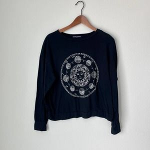 Brandy Melville Black Zodiac Long Sleeve